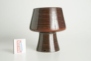 Sockel - Vase,  Schale Aus Keramik In Braun Aus Den 50er,  60er,  70er Jahre Bild