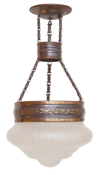 Jugendstil Hängelampe Deckenleuchte Um 1910 Flurlaterne Flurlampe Bild