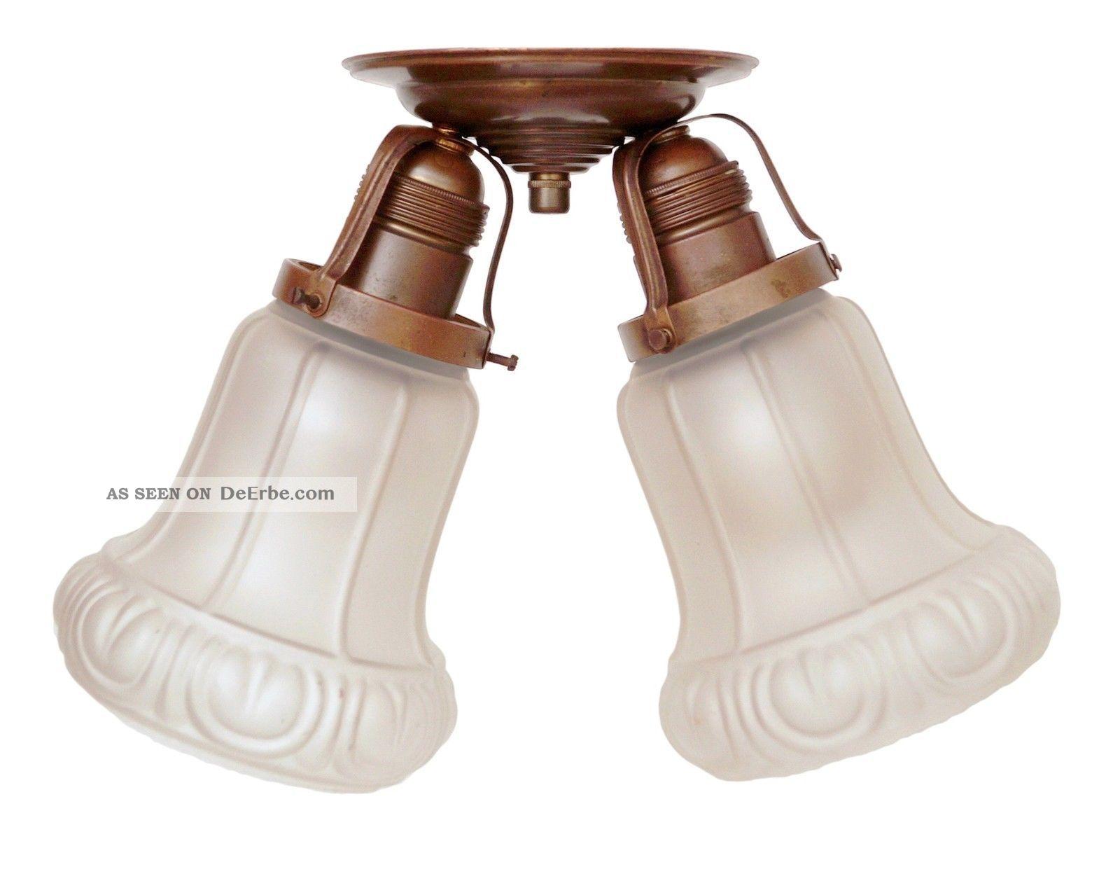 Sehr Seltene Jugendstil Deckenlampe Hängeleuchte Um 1900 Antike Originale vor 1945 Bild