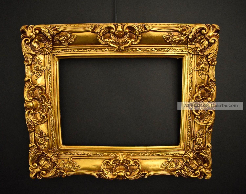 Prunk Bilderrahmen 60 X 50 Cm / 30 X 40 Cm Gold Gemälde Rahmen Barockrahmen Rahmen Bild