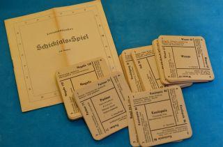Altes Astromatisches Schicksal - Spiel Kartenspiel Dr.  I.  Egenolf 1947 Bild
