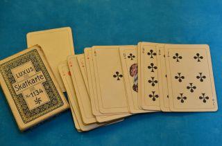 Alte Luxus Skatkarte Nr.  1134 Kartenspiel Aus Den 40er Jahren Bild