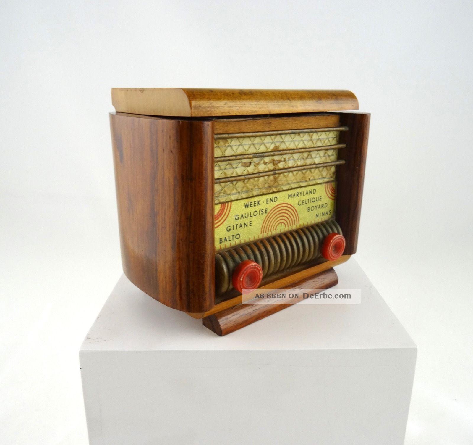 Seltene Art Deco Schatulle Radio Form Spieluhr Frankreich Um 1930 1920-1949, Art Déco Bild