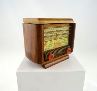 Seltene Art Deco Schatulle Radio Form Spieluhr Frankreich Um 1930 Bild