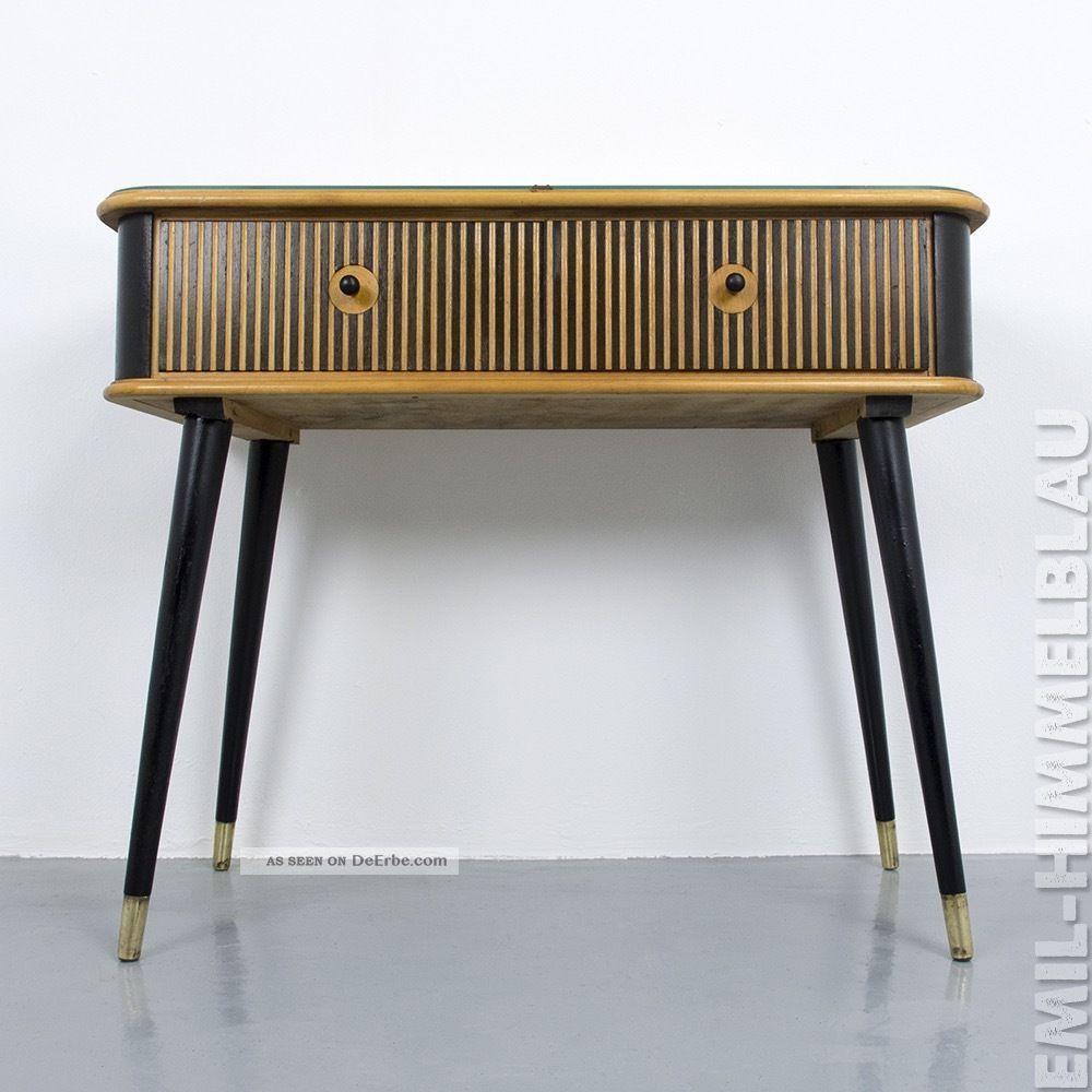 Schubladenschrank Register Kommode Vintage Bunt Muschelgriff Schrank 50er 60er 1950-1959 Bild