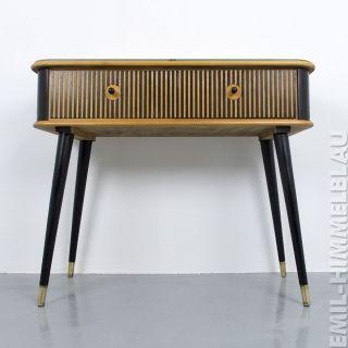Schubladenschrank Register Kommode Vintage Bunt Muschelgriff Schrank 50er 60er Bild