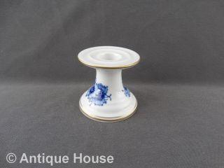 Meissen Kerzenhalter Tischleuchter Blaue Blume Mit Gold Bild