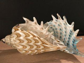Muranoglas Stil Glaskunst Muschel Paar Schwer 4,  5 Kg 30 Cm Bild