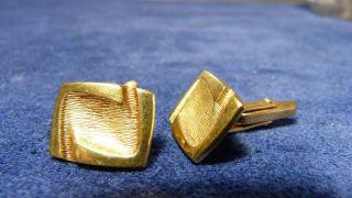 Alte Manschettenknöpfe - Ca.  60er Jahre - Amerikaner Gold - Gestempelt Bild