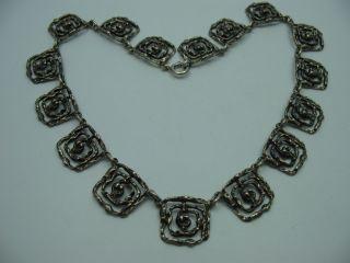 Sehr Schöne 60er 70er Jahre Designer Halskette Aus 925 Sterling Silber Bild
