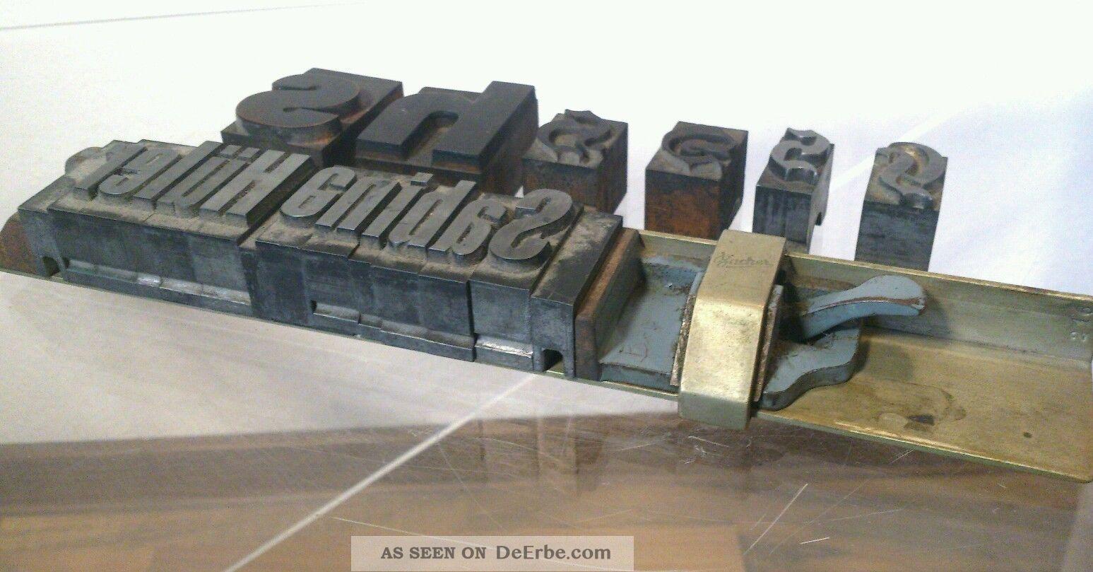 Antike Metallstempel Bacher Buchdrucker & Buchbinder Bild