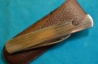 Altes Silberfarbenes Gml Leegebruch Taschenmesser Bild