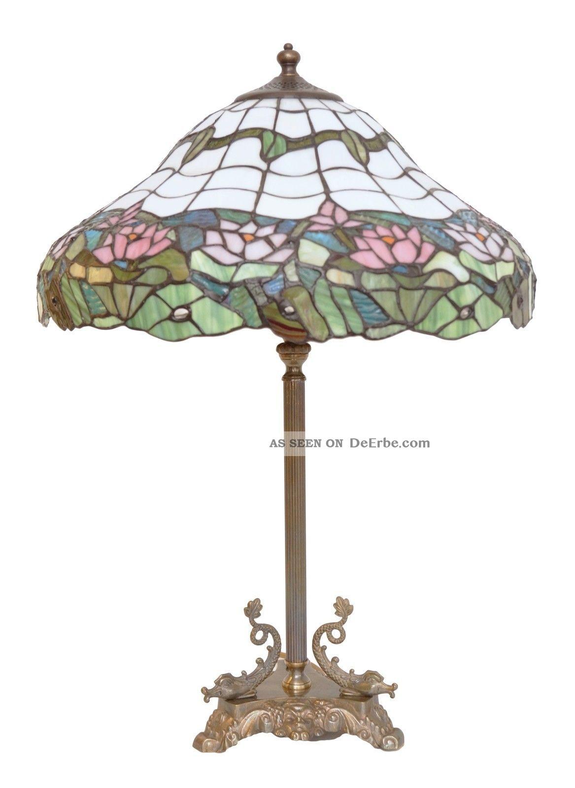 Wunderschönes Unikat Jugendstil Tiffany Schreibtischleuchte