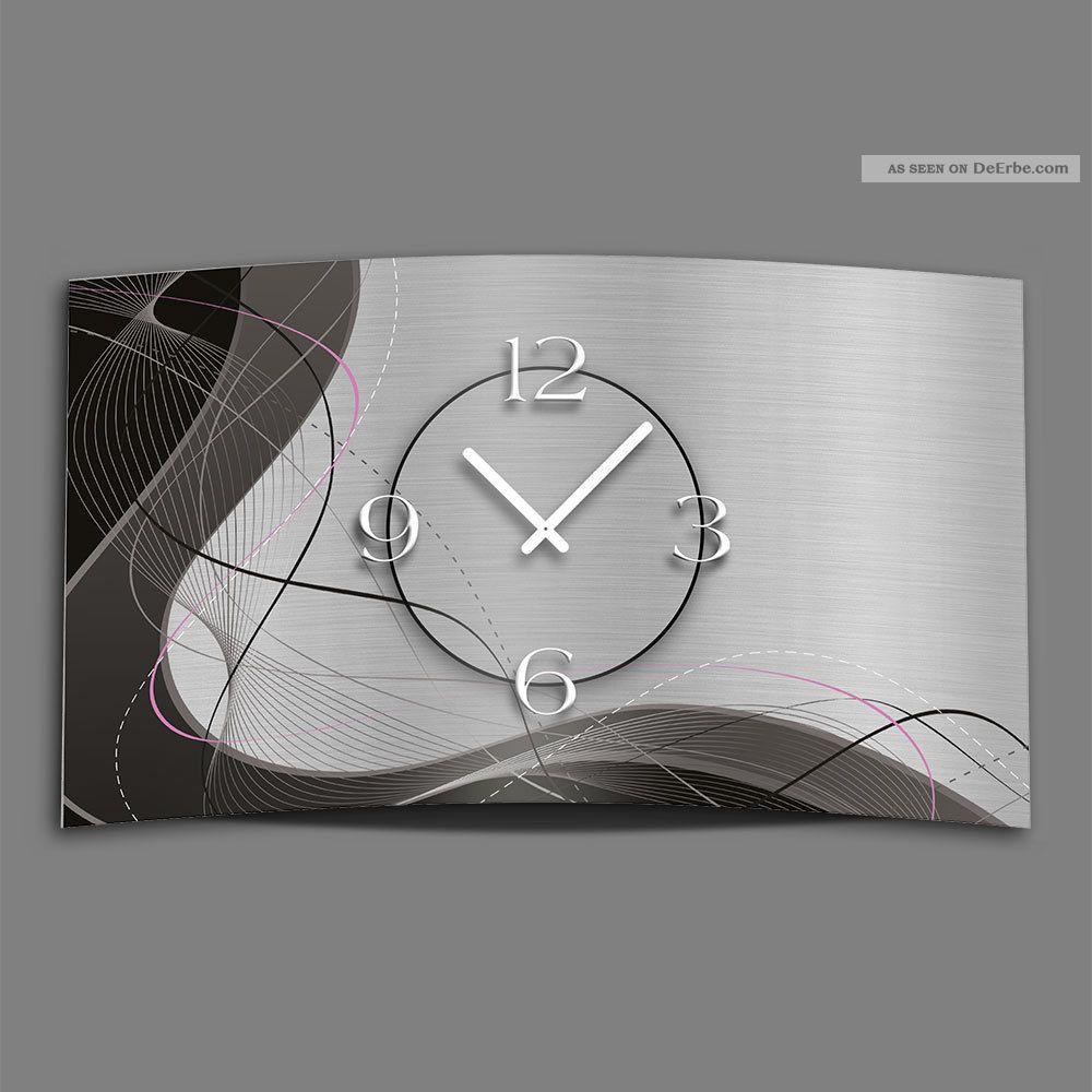 Abstrakt Grau Designer Wanduhr Modernes Wanduhren Design Leise Kein Ticken Dixti Gefertigt nach 1950 Bild