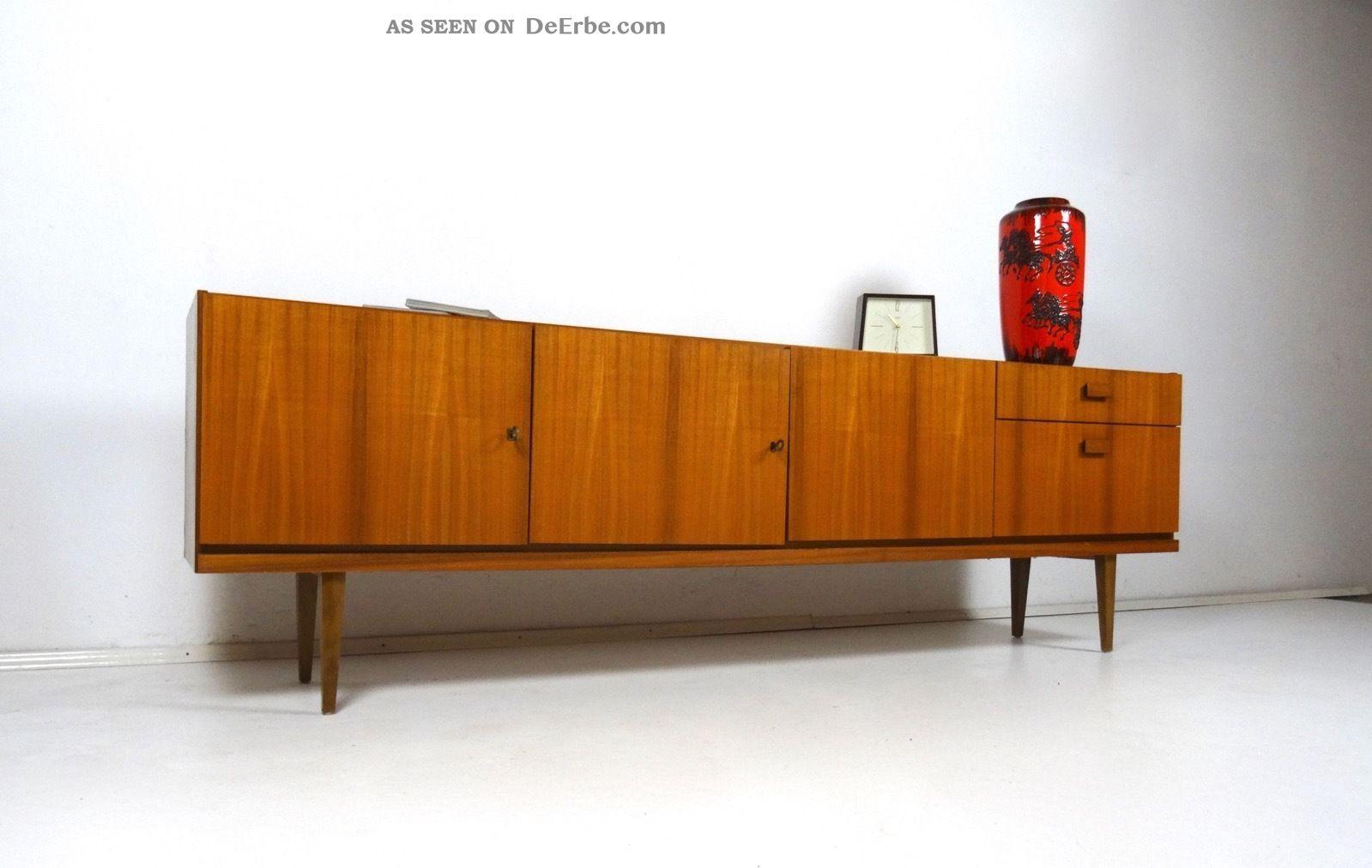 60er Design Sideboard Danish Modern MÖbel Teak Mid Century 50er 1960-1969 Bild