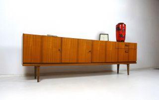 60er Design Sideboard Danish Modern MÖbel Teak Mid Century 50er Bild