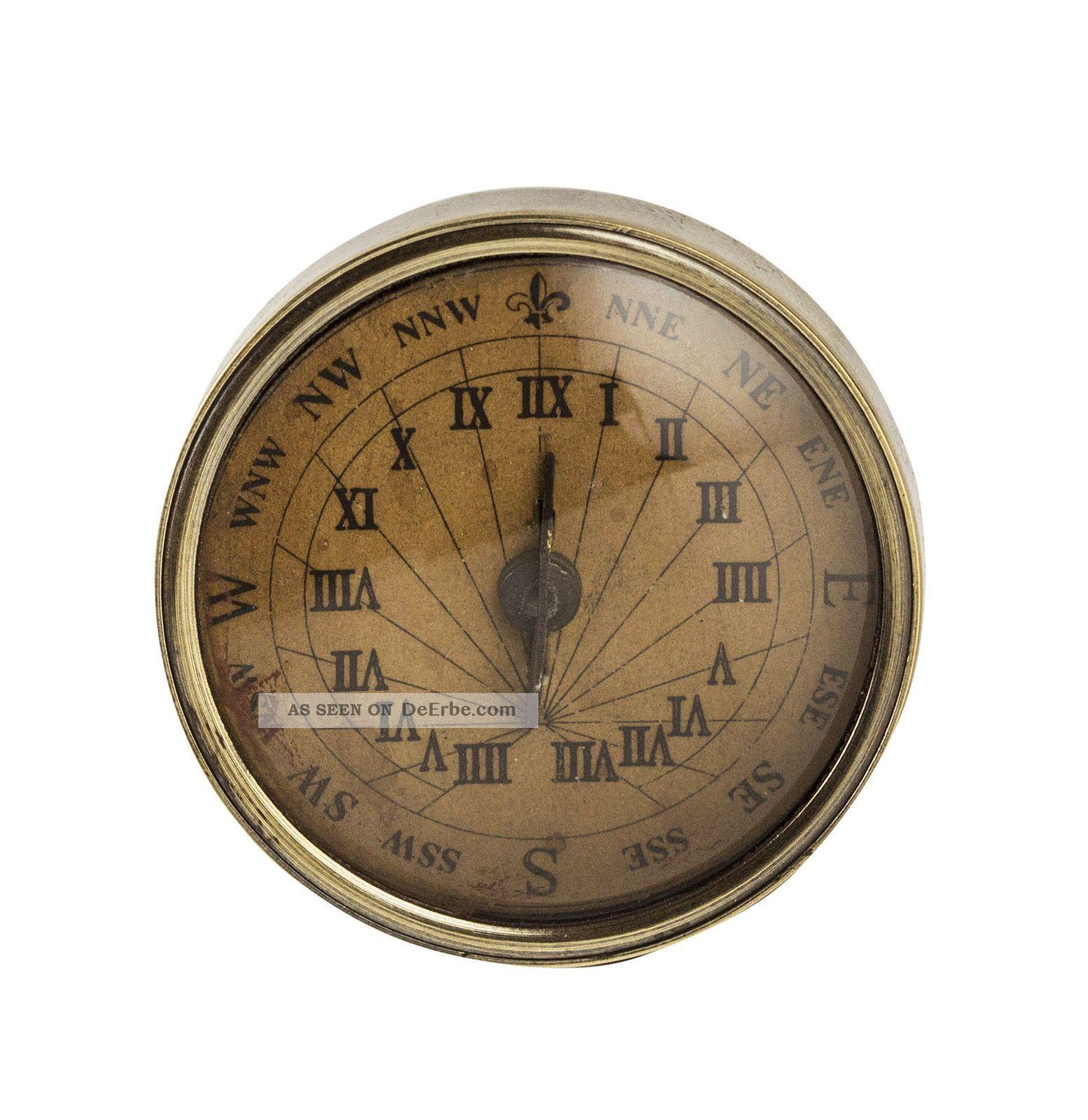 Authentic Models 18th C.  Compass - Sundial,  Small - Kompass Mit Sonnenuhr,  Klein Technik & Instrumente Bild