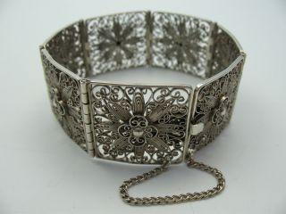 Handarbeit Top Breites Altes Filigranes Armband Aus 835 Silber Bild