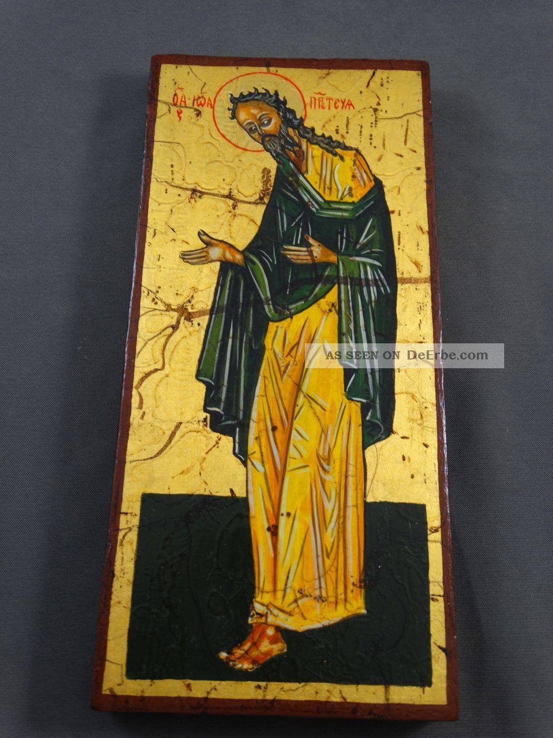 Ikone Icon Heiligenbild Johannes Der Täufer - Fürbitt Reihe - Handgemalt Ikonen Bild