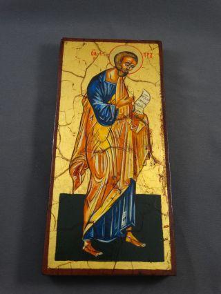 Ikone Icon Heiligenbild Apostel Petrus - Fürbitt Reihe - Handgemalt Bild