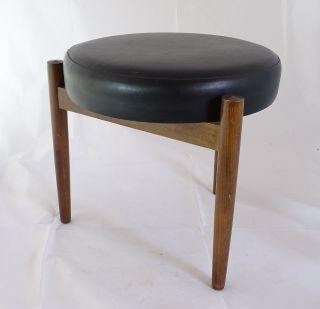 Mid Century Danish Design Beistellhocker Hocker Tolles Design Leder Sitzfläche Bild