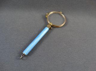 Lorgnon Lesehilfe Brille Griff Blau Emailliert Bild