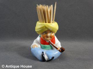 Kleine Porzellanfigur Thüringen Sultan Zahnstocher Becher Bild
