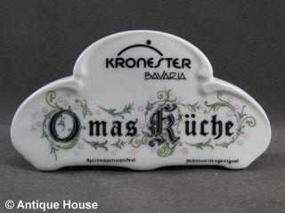 Werbeaufsteller Verkaufsaufsteller Kronester Bavaria Omas Küche Bild