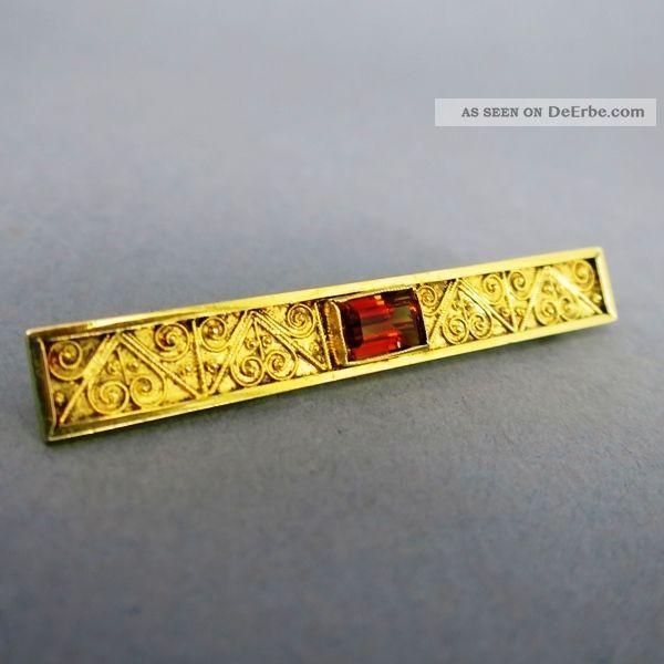 Goldene Filigranbrosche Mit Citrin Broschen Bild