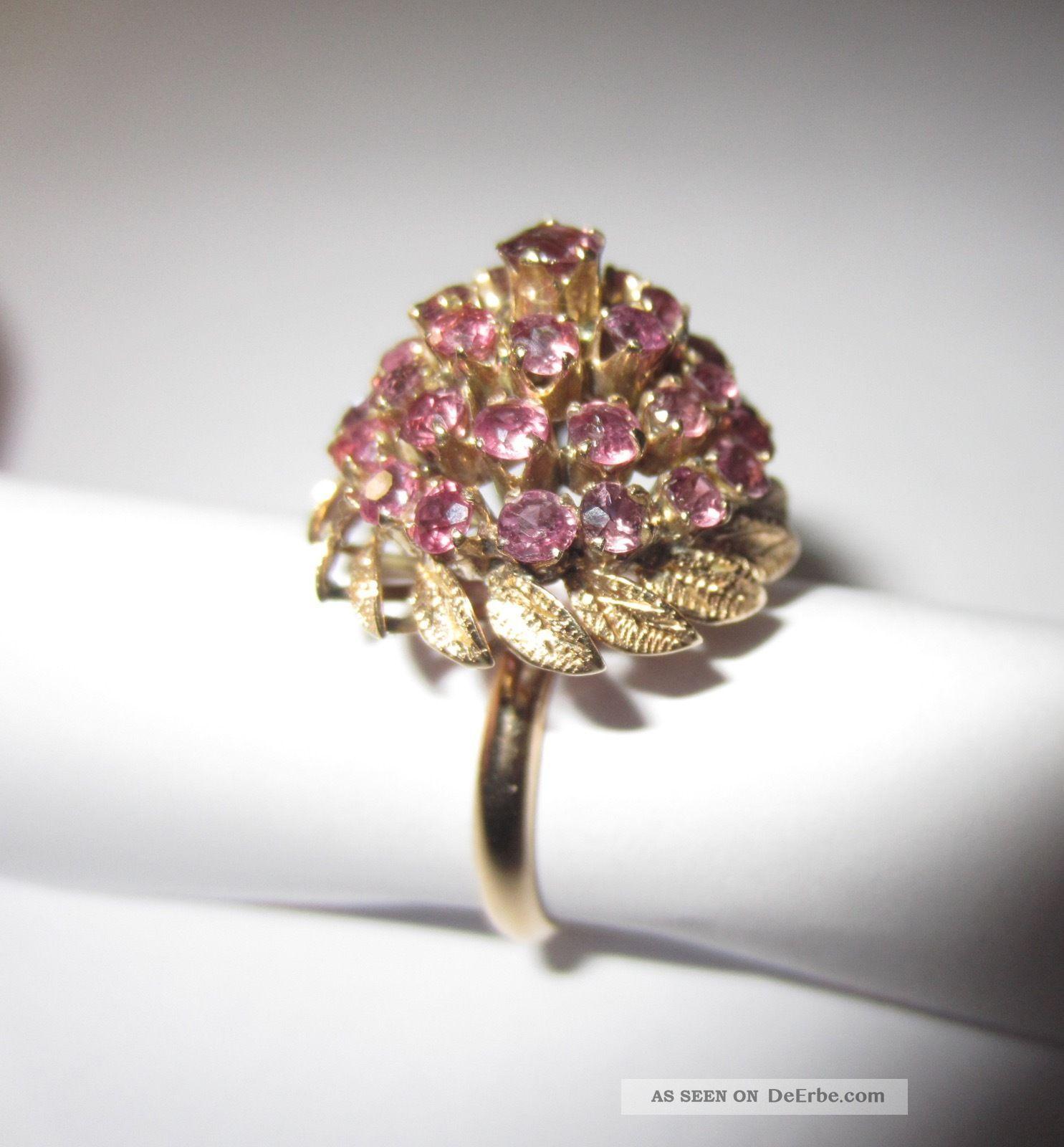 Schöner Ring Amethyst 14 K 585 Gold Gr.  55 Vintage 70er Jahre 5,  7 Gr. Ringe Bild