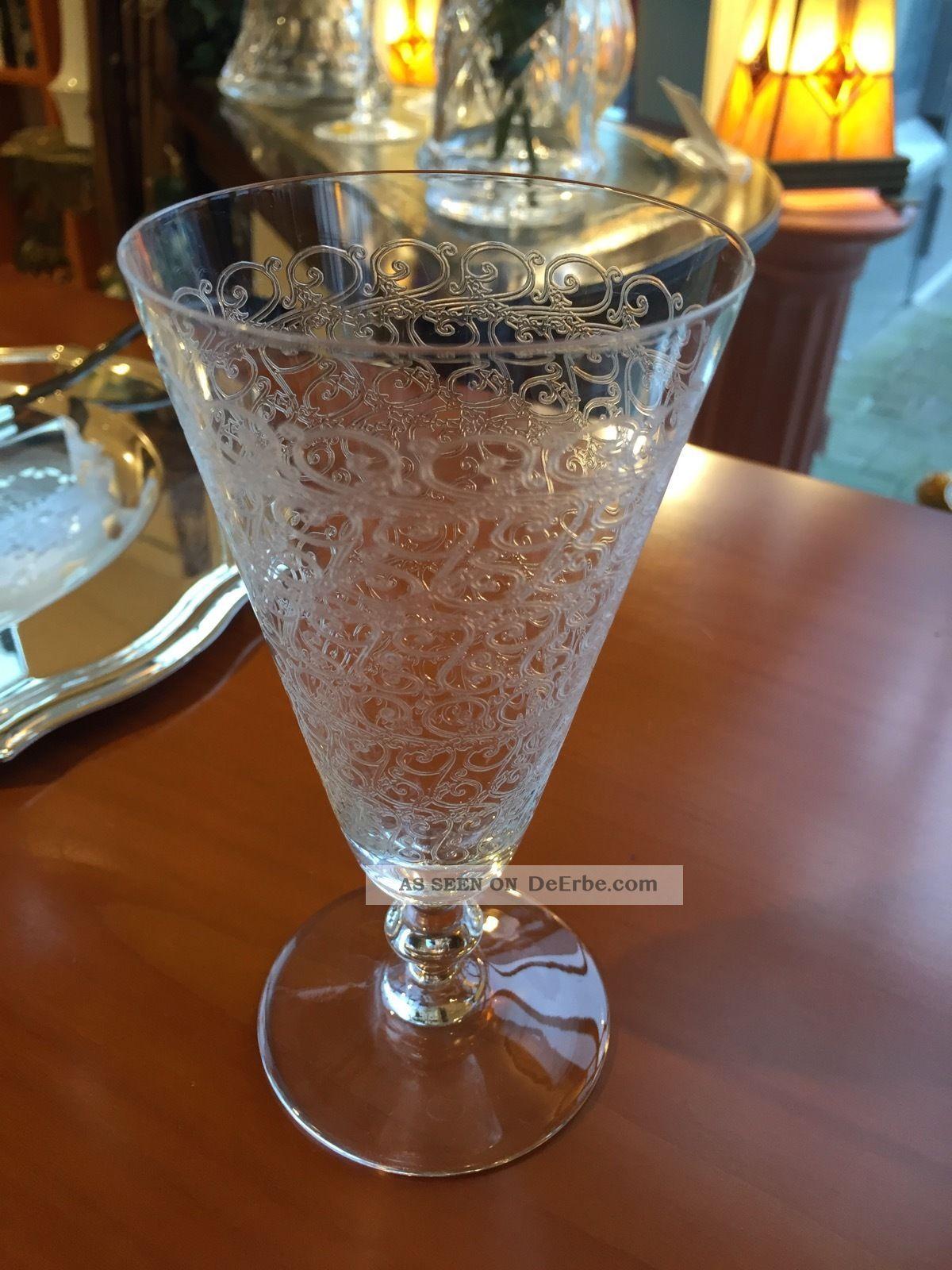 Sektglas Rohan De Baccarat France Crystal Champagne Glas Kristall Bild