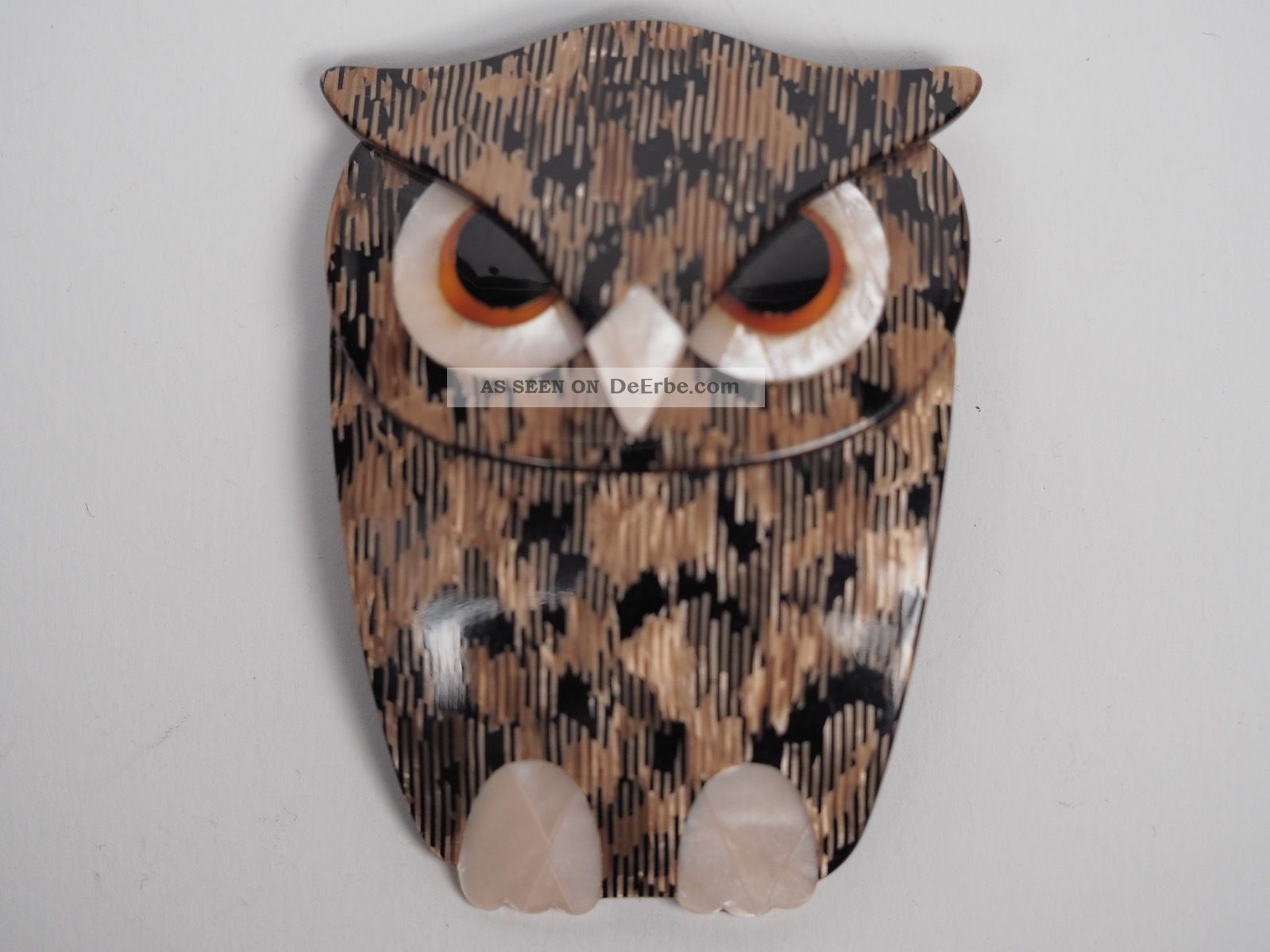 Lea Stein Brosche.  Buba The Owl. Broschen Bild