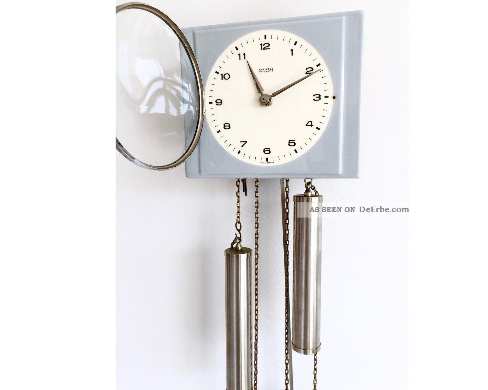Schöne Alte Pendeluhr Wanduhr Kienzle Schlagwerk Küchenuhr D.  Uhrmacher überholt Gefertigt nach 1950 Bild