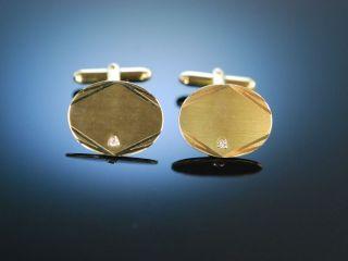 Zum Gravieren Klassische ManschettenknÖpfe Cufflinks Gold 333 Diamanten Bild