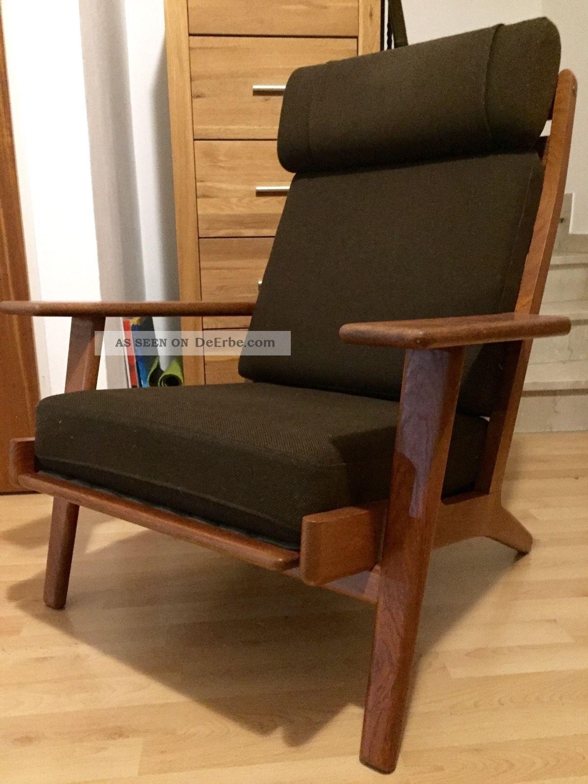 wegner getama high back sessel 60er teak. Black Bedroom Furniture Sets. Home Design Ideas