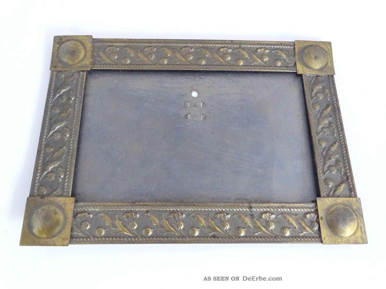 Antiker Jugendstil Bilderrahmen Aus Metall Bilder Rahmen Picture Frame Rahmen Bild