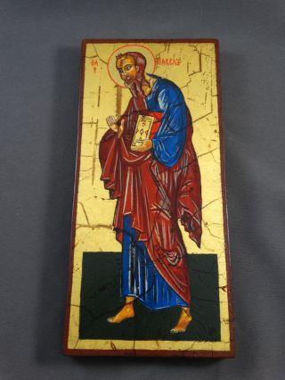 Ikone Icon Heiligenbild Apostel Paulus - Fürbitt Reihe - Handgemalt Bild
