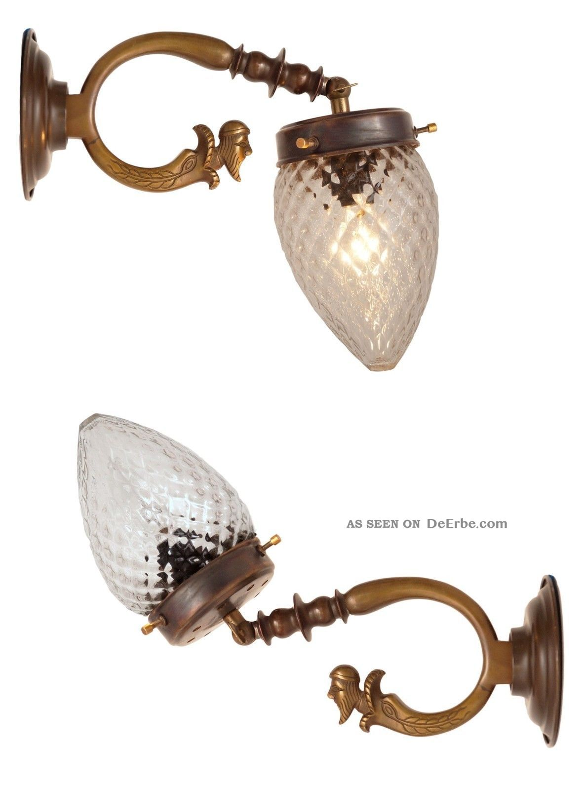Seltene Orig.  Franz.  Jugendstil Wandleuchte Wandlampe Figur 4 Stk.  Verfügbar Antike Originale vor 1945 Bild