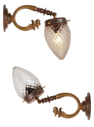 Seltene Orig.  Franz.  Jugendstil Wandleuchte Wandlampe Figur 4 Stk.  Verfügbar Bild