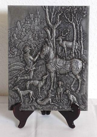 Eisen Relief Heiliger Eustachius Nach Albrecht Dürer Gusseisen Platte Wandplatte Bild