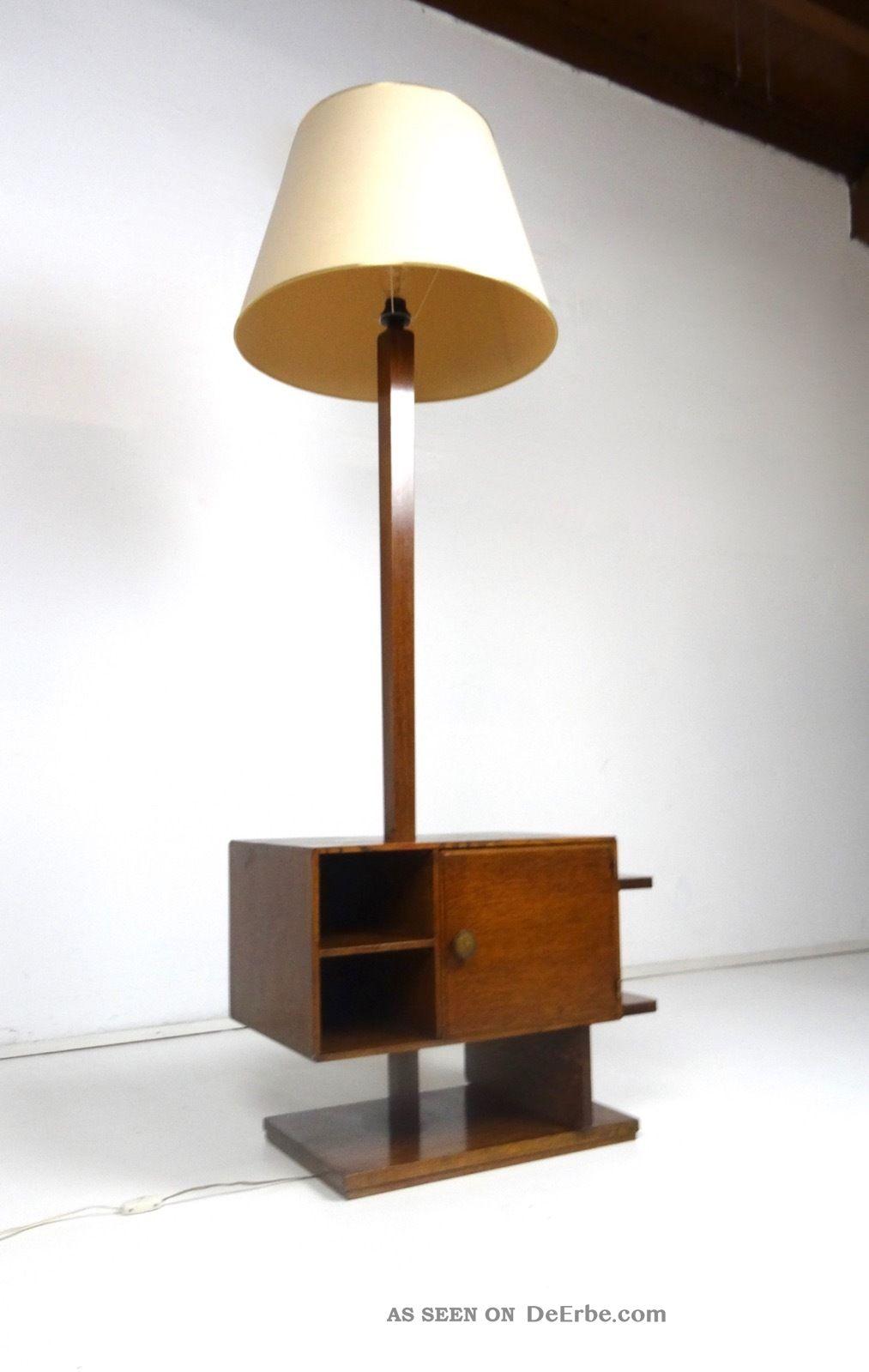 30er Art Deco Leselampe Beistelltisch Kommode Antik MÖbel Bauhaus 1920-1949, Art Déco Bild