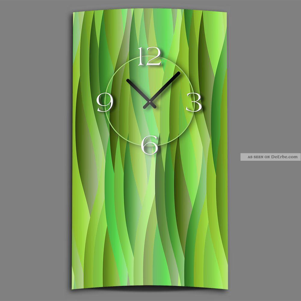 Abstrakt Grün Lemon Designer Wanduhr Modernes Wanduhren Design Leise Kein Ticken Gefertigt nach 1950 Bild