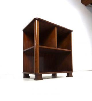 FrÄnzÖsisches Art Deco BÜcherregal Furniert Bauhaus Antik Bibliothek Kommode Bild
