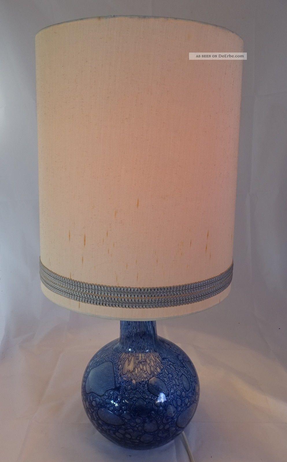 70er Jahre 70s Panton Ära Lampe Stehlampe Blau M.  Schirm Funktionsfähig Wohl Wmf 1970-1979 Bild