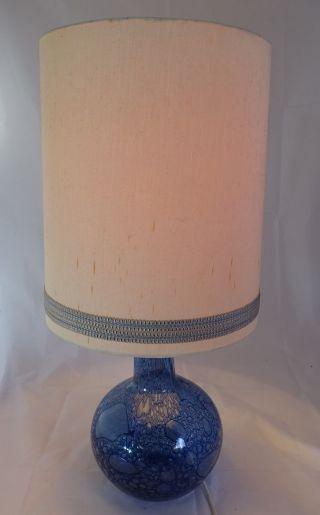 70er Jahre 70s Panton Ära Lampe Stehlampe Blau M.  Schirm Funktionsfähig Wohl Wmf Bild