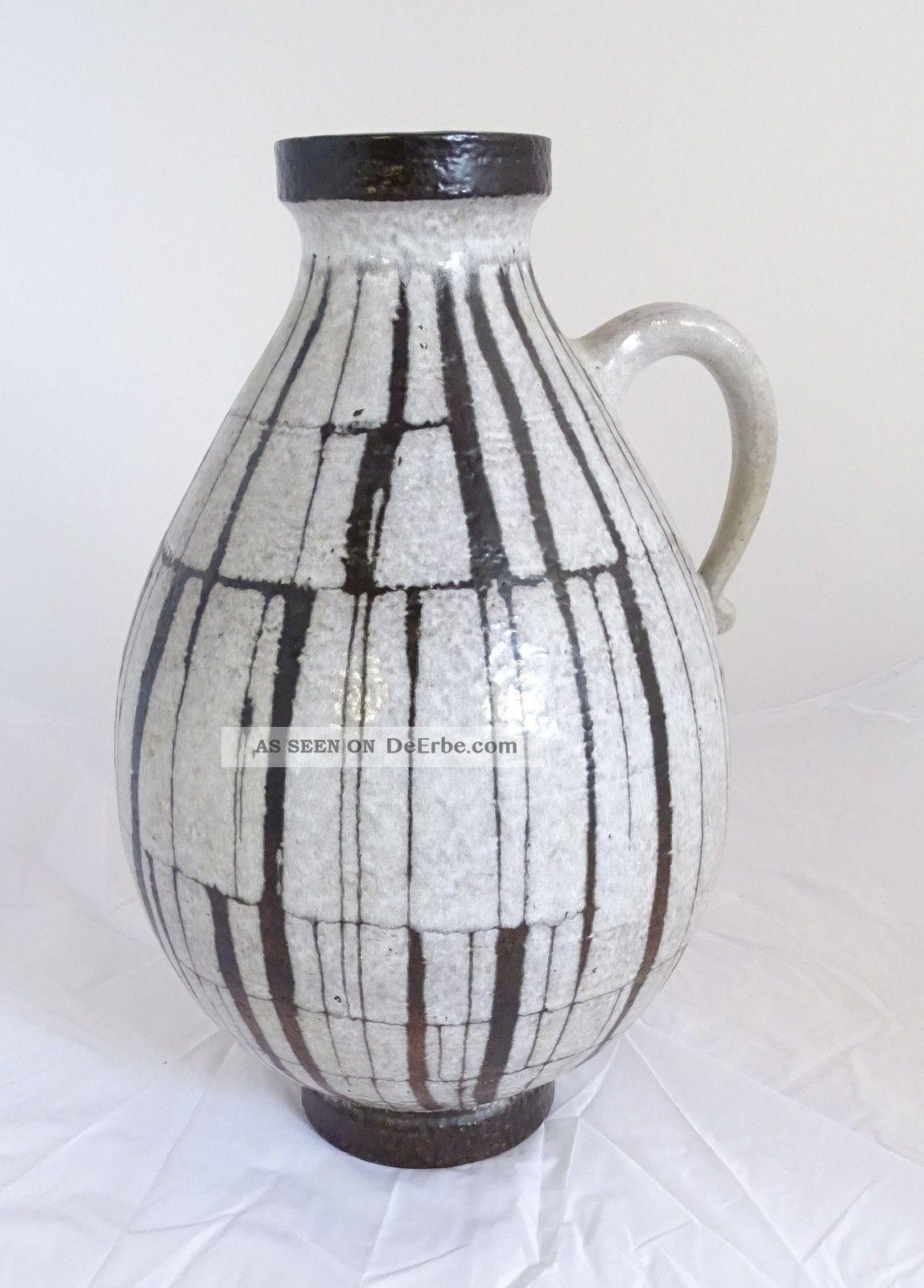 Große 50/60er Jahre Stand Vase Keramik Tolles Design 227 - 55 Made In West Germany 1960-1969 Bild