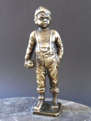 Otto Schmidt Hofer Jugendstil Bronze Boy Apfel Schale Art Nouveau Tray Wmf Ifg Bild