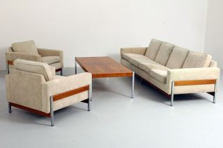 International Style Sofa Garnitur 1960's Modernism - Florence Knoll Behr ära Bild