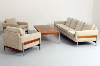 International Style Sofa Garnitur 1960's Modernism - Florence Knoll Behr ära Bild