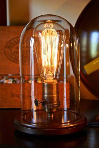 Antik Retro Edison Lampe Tischleuchte Inkl.  25w Leuchtmittel Bild